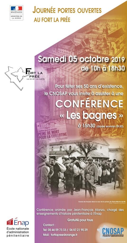 Conférence Bagnes au Fort La Prée